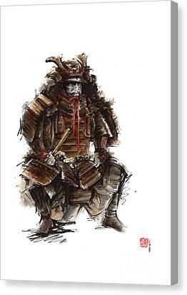 Japanese Warrior Armor. Canvas Print