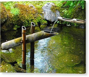 Japanese Water Fountain Canvas Print