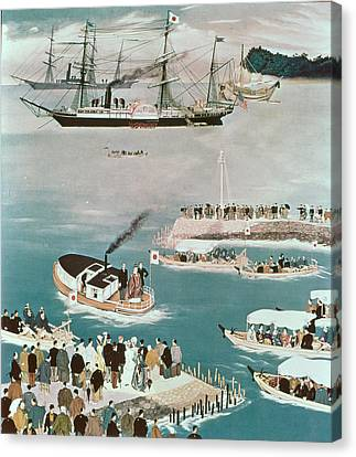 Diplomacy Canvas Print - Japans First Foreign Mission, Headed By Prince Iwakura by Unknown