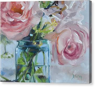 Jar Of Pink Canvas Print