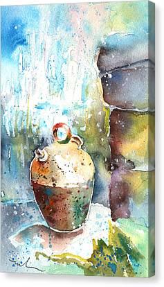 Water Jars Canvas Print - Jar Under A Waterfall by Miki De Goodaboom
