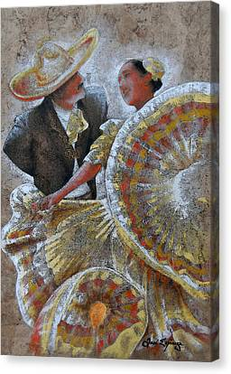 Jarabe Tapatio Dance Canvas Print