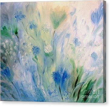 Jardin Bleu Canvas Print by Julie Brugh Riffey