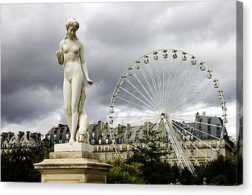 Tuileries Canvas Print - Jardin Des Tuileries by Fabrizio Troiani