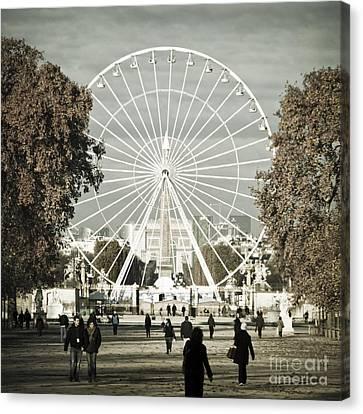 Jardin Des Tuileries Park Paris France Europe  Canvas Print by Jon Boyes