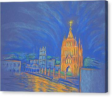 Jardin In The Parroquia Canvas Print by Marcia Meade
