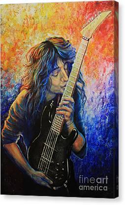 Pallet Knife Canvas Print - Jason Becker by Tylir Wisdom