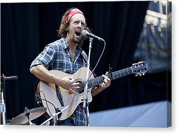 Canvas Print featuring the photograph Jason Mraz by Shawn Everhart