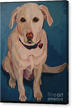 Canvas Print featuring the painting Jasper by Janet McDonald