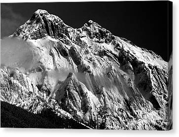 Jasper - Snow Packed Mountain In Spring Canvas Print
