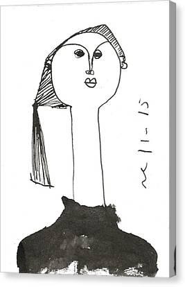 Sumi Ink Canvas Print - Javi  by Mark M  Mellon