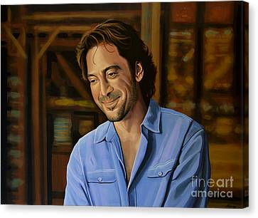 Javier Bardem Painting Canvas Print by Paul Meijering