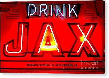 Jax Beer Of New Orleans Canvas Print by Saundra Myles