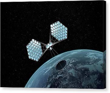 Jaxa Solar Power Orbiter Canvas Print by Mikkel Juul Jensen
