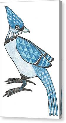Bluejay Canvas Print - Jay by Brian Fuchs