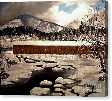 Jay Covered Bridge Canvas Print by Peggy Miller