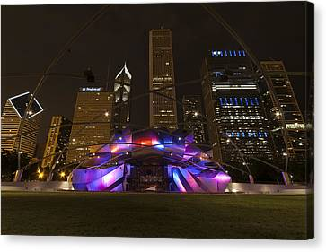 Jay Pritzker Pavilion Chicago Canvas Print by Adam Romanowicz