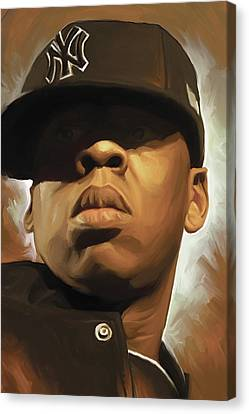 Jay-z Artwork Canvas Print by Sheraz A