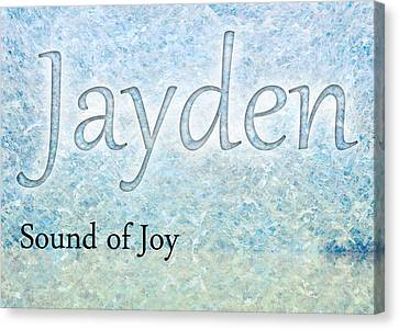 Jayden - Sound Of Joy Canvas Print by Christopher Gaston