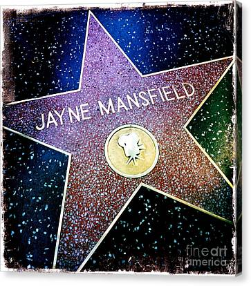 Jayne Mansfield Star Canvas Print