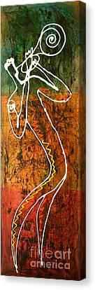 Avant Garde Jazz Canvas Print - Jazz 2 by Leon Zernitsky