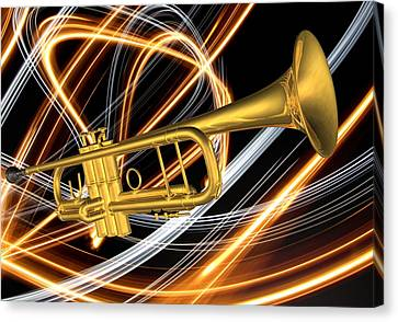 Jazz Art Trumpet Canvas Print