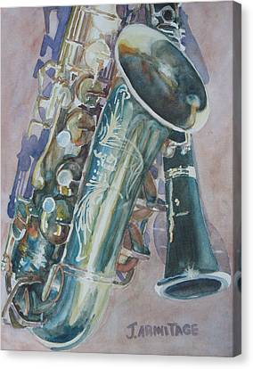 Jazz Buddies Canvas Print by Jenny Armitage
