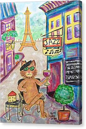 Jazz Cat Canvas Print by Diane Pape