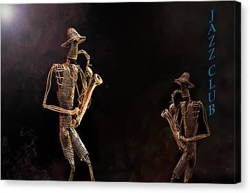 Jazz Club Canvas Print by Trevor Chriss