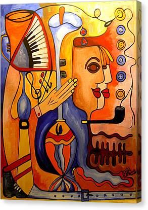 Jazz Fish - Silvism/bios Canvas Print by Silvia Regueira