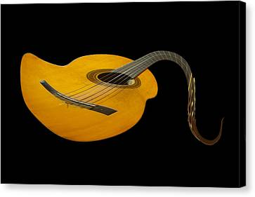 Jazz Guitar 2 Canvas Print by Debra and Dave Vanderlaan