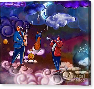 Jazz In Heaven Canvas Print by Bedros Awak
