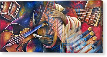 Jazz In Space Canvas Print by Ka-Son Reeves