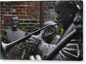 Jazz Legends Al Hirt And Pete Fountain - New Orleans Canvas Print by Bill Cannon