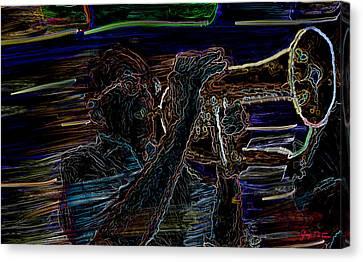 Jazz Man Jack Canvas Print