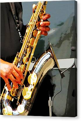 Jazz Man Canvas Print