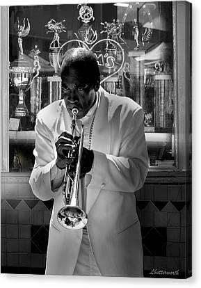 Jazz Man Canvas Print by Larry Butterworth