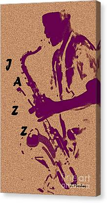 Jazz Man Canvas Print by Linda  Parker