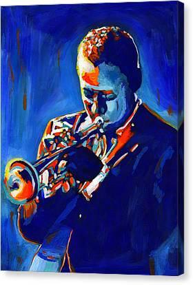 Jazz Man Miles Davis Canvas Print by Vel Verrept