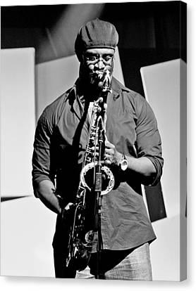 Jazz Musician Canvas Print by Achmad Bachtiar