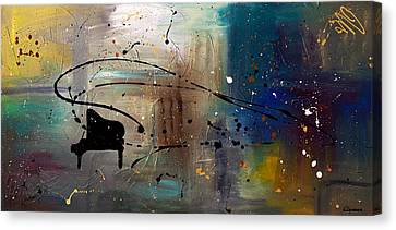 Jazz Night Canvas Print by Carmen Guedez