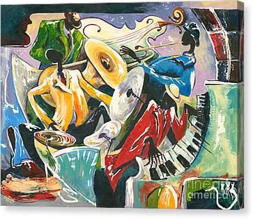 Jazz No. 3 Canvas Print by Elisabeta Hermann