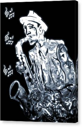 Jazz Notes Canvas Print by Dan Sproul