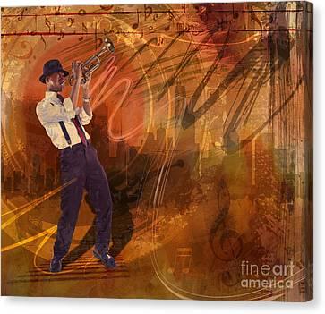 Jazz Nrg Canvas Print by Bedros Awak