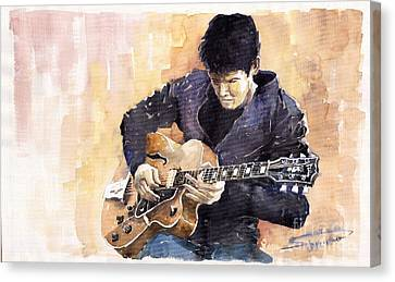 Jazz Rock John Mayer 02 Canvas Print by Yuriy  Shevchuk