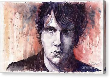 Jazz Rock John Mayer Canvas Print by Yuriy  Shevchuk