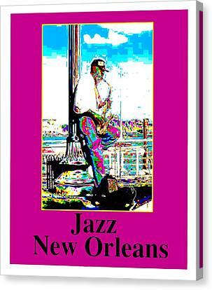Jazz Sax Canvas Print