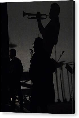 Jazz Shadows Canvas Print by Bill Mock