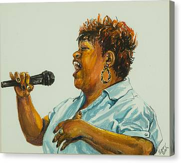 Jazz Singer Canvas Print by Sharon Sorrels