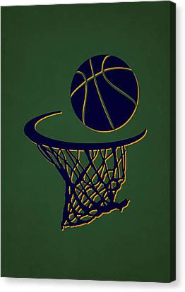 Jazz Team Hoop2 Canvas Print by Joe Hamilton
